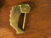 Vintage Chinese Solid Brass Cabinet Lock Fish Scales Design Set Of 4 W/ Key
