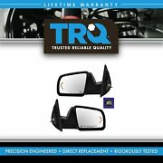 Trq Power Heated Signal Side View Mirror Chrome Caps Covers Pair Set For Tundra