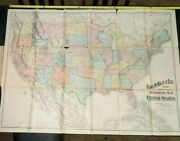 56 1901 Antique Railroad Map Of The United States Inside A Rand Mcnally Atlas