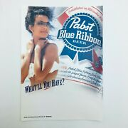 Pabst Blue Ribbon Beer Advertising 2004 Static Cling Cooler Decal 7 X 5