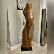Le Ruiz - Sinker Cypress Abstract Sculpture - Large Freestanding Monolithic