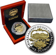 Niue 10 2017 Silver Gold Plated Proof 5 Oz 90th Anniver.canberra Florin Mtg.500
