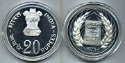 1973 India 20 Rupees 50 Silver Proof Coin Km 240 Fao Food For All 30 Gram