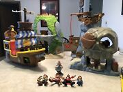 Lot Jake And The Neverland Pirates Ship Playsets Figures Skull Island And More