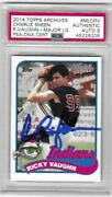 Charlie Sheen Signed 2014 Topps Archives Ricky Vaughn Psa Auto 9 Major League