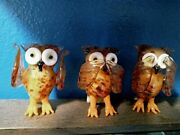 Pier 1 Imports Stela Hudson And Stanford Art Glass See Hear And Speak No Evil Owls