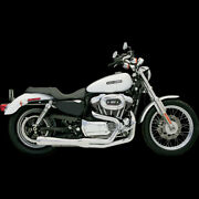 Road Rage 2-into-1 Exhaust Systemschrome Short For 2004-2013 Harley Sportster