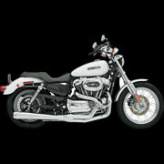 Road Rage 2-into-1 Exhaust Systemschrome Long For 2004-2013 Harley Sportster