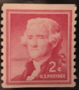 Thomas Jefferson 2 Cent Vintage Postage Stamp Red - Extremely Rare - Unused