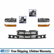 Grille Headlight And Parking Light Lamp Kit Set Of 5 For Chevy S10 Pickup Blazer