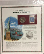 1986 Statue Of Liberty Half Dollar Postal Commemorative Coin And Stamp