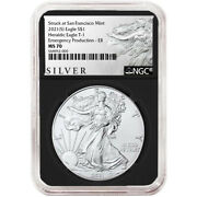 2021 S 1 American Silver Eagle Ngc Ms70 Emergency Production Als Er Label Ret