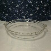 Vintage Pyrex Glass 10 229 24 Cm Pie Plates Dish- Scalloped Fluted