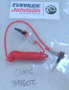 E5a Johnson Evinrude Omc 398602 Lanyard And Clip Assy Oem New Factory Boat Parts