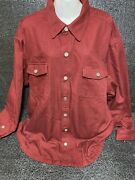 Duluth Trading Company Canvas Field Barn Jacket Coat 2xl Burgundy Blanket Lined
