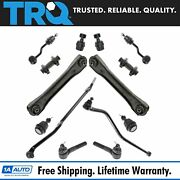 Trq 15 Pc Steering And Suspension Kit Control Arms Ball Joints Tie Rods End Links