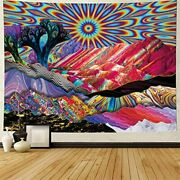 Trippy Tapestry For Bedroom Extra Large Vibrant Pretty Big Huge Wall Hanging Xl