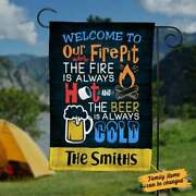 Welcome To Our Fire Pit Where The Fire Is Always Hot Flag Party Banner Flag
