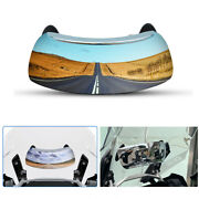 Motorcycle 180° Blind Spot Rearview Mirror Wide Angle Safety Auxiliary Mirrors