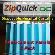 Zipquickandreg Dc Disposable Fr Hospital Privacy Curtains - Us Manufacturer 6 Pack