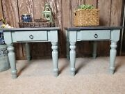 Pair Of Refinished End Tables/night Tables Farmhouse Style/french Country