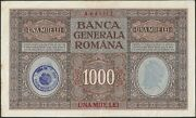Romania German Occupation Wwi 1000 Lei 1917 Pm8 Vf++ With Stamp Rare