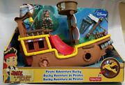 Fisher Price Jake And The Neverland Pirates Pirate Adventure Bucky Shipnew