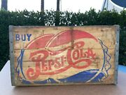 Vintage Rare Size Large Double Dot Wood Pepsi Crate 1920s-50s Great Condition