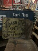 1866' Jewelers Sign Trask And Plain Sign Rare Sign Jewelry Sign Extremely Rare Ny