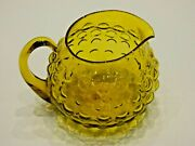 Art Deco Amber Bubble Water Pitcher