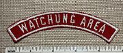 Vintage Watchung Area Boy Scout Red And White Council Strip Patch Rws 1/2 Bsa Ny