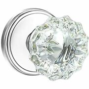 Shiny Handles Crystal Glass Interior Door Knobs With Lock, Privacy Bed And Bath,