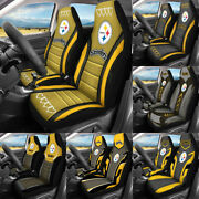 Pittsburgh Steelers Car Seat Covers 2pcs Universal Pickup Truck Seat Protector