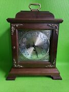 Vintage Hamilton Mantle 8day Chime Clock W/hermle 340-020 Movement West Germany