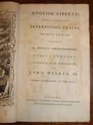 1769 John Wilkeand039s Public And Private Correspondence English Liberty 2 Vols In 1