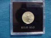 2005 1/4 Ounce 10 Us Eagle Gold Coin In Capsule Mint Condition