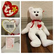 Super Rare Valentino Beanie Baby With Brown Nose And Multiple Tag Errors