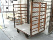 Large Antique H L Schroeder Factory Industrial Cart Chicago National Biscuit Co