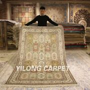 Yilong 5and039x8and039 Classic Handmade Silk Rugs Four Seasons Hand Knotted Carpets 022b