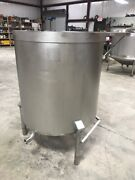 150 Gallon 304 Stainless Steel Open Top Tank On Legs W Small Ss Table Attached