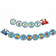 Train Happy Birthday Banner Train Birthday Party Decorations Train Party Hanging