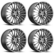 Set 4 19 Victor Equipment Wurttemburg 19x8.5 Gunmetal W/ Mirror Cut Face 5x130