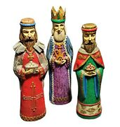 Schmid Bros Christmas Wise Men Figurines Japan Paper Mache 14andrdquo Tall As Is Cond.