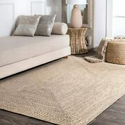 Nuloom Wynn Braided Indoor/outdoor Area Rug 7and039 6 X 9and039 6 Tan