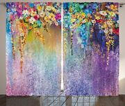 Ambesonne Flower Curtains Abstract Herbs Weeds Alternative Medicine Blossoms Iv