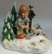 Hummel Peaceful Offering Hum 2066 Tmk 7 + Peaceful Offering Scape 1004-d Signed