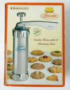 Marcato Biscuits Machine Made In Italy. Includes 20 Aluminum Cookie Maker