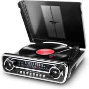 Ion Audio Turntable Mustang Lp 4-in-1 Classic Car-styles Music Center Black