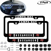 2pcs Tampa Bay Buccaneers Liscense Plate Frames Universal Fit Aluminum Tag Cover