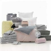 Ocm College Dorm Room 27-piece Varsity Collection | Twin Xl Bedding With Topper